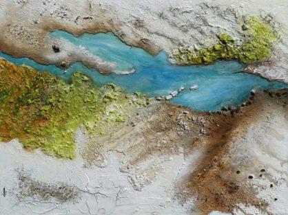 Acrylbild-auf-Leinwand-Kleinformat-River-AbstrakteKunstDeppe