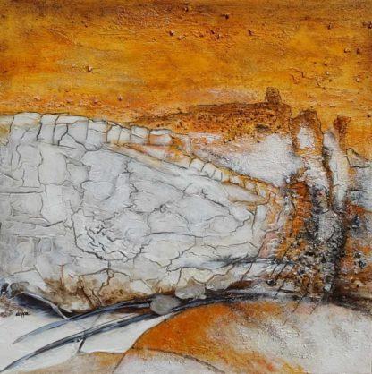 Acrylbild-auf-Leinwand-Kleinformat-Valldemossa-AbstrakteKunstDeppe