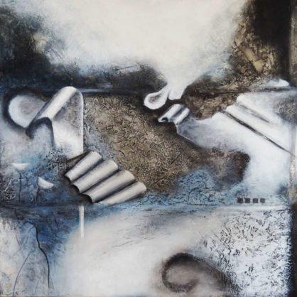 Acrylbild-auf-Leinwand-Mittelformat-Zeitlos-AbstrakteKunstDeppe