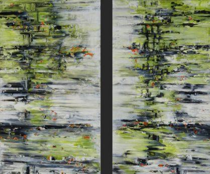 Acrylbild-auf-Leinwand-Rakelkunst-Rakel 117R+L-AbstrakteKunstDeppe