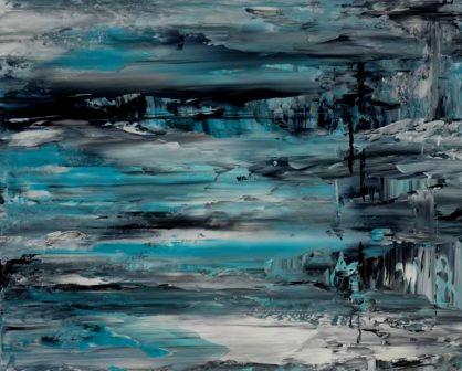 Acrylbild-auf-Leinwand-Rakelkunst-Rakel 55-AbstrakteKunstDeppe