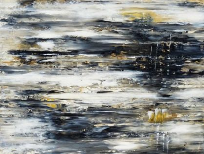 Acrylbild-auf-Leinwand-Rakelkunst-Rakel 71-AbstrakteKunstDeppe