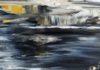 Acrylbild-auf-Leinwand-Rakelkunst-Rakel 71-Detail2-AbstrakteKunstDeppe
