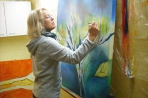Atelier Lonny Deppe - Abstrakte Malerei in Acryl auf Leinwand