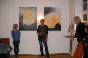 Vernissage Ausstellung von Lonny Deppe im Bruchhof in Stadthagen