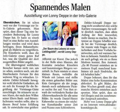 Ausstellung Lonny Deppe in der Info-Galerei Obernkirchen - Schaumburger Nachrichten