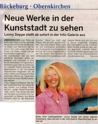 Ausstellung Lonny Deppe in der Info-Galerei Obernkirchen - Schaumburger Wochenblatt