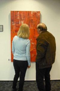 Ausstellung und Vernissage Lonny Deppe in der Sparkasse Obernkirchen