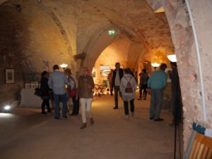 Abstrakte Malerei - Fort A in Minden - Ausstellung Lonny Deppe