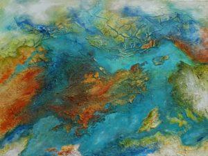 Acrylbild »Mekong« aus dem Atelier von Lonny Deppe