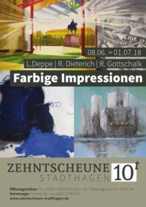 Kunstausstellung - Acrylmalerei - Lonny Deppe - Renate Gottschalk -Zehntscheune Stadthagen 08.06.-01.07.2018