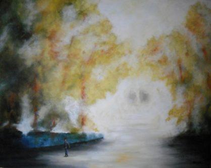 Manana 100 x 80 cm - Abstrakte Malerei in Acryl auf Leinwand