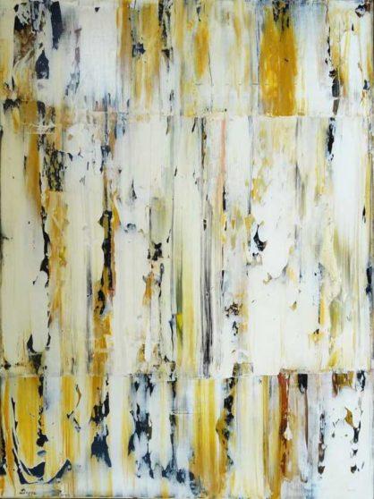 Rakel 4 90 x 120 cm - Abstrakte Malerei in Acryl auf Leinwand