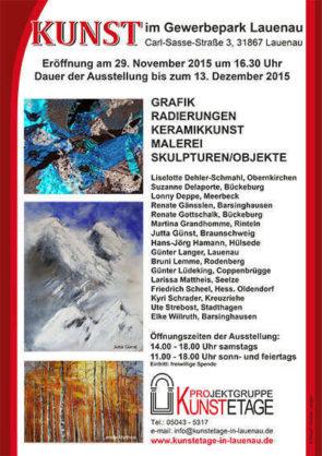 Kunstetage Lauenau - Ausstellung Lonny Deppe