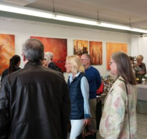 Vernissage Ausstellung von Lonny Deppe in der Info-Galerie in Obernkirchen